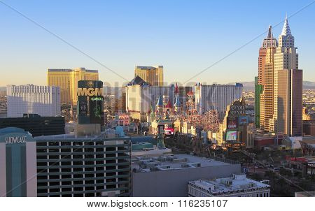 An Aerial View Of The Las Vegas Strip Looking South
