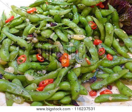 Dressed Young Soybean with Salted Pepper