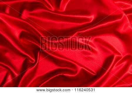 Sensuous Smooth Red Satin