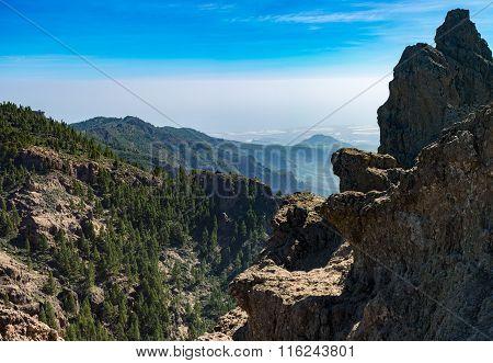 Mountains, view from Pico de las Nieves, Gran Canaria