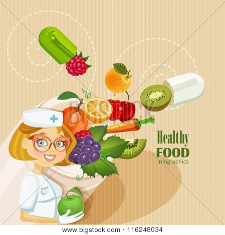 Medical vitamins and minerals background.