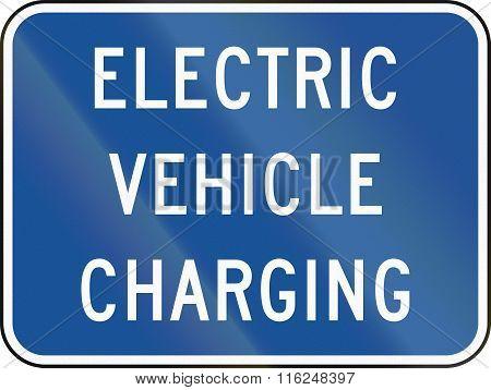 United States Mutcd Road Sign - Charging Station