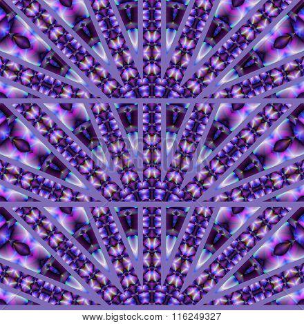 Seamless ornaments semicircles purple