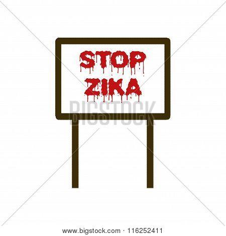 Stop Zika Placard