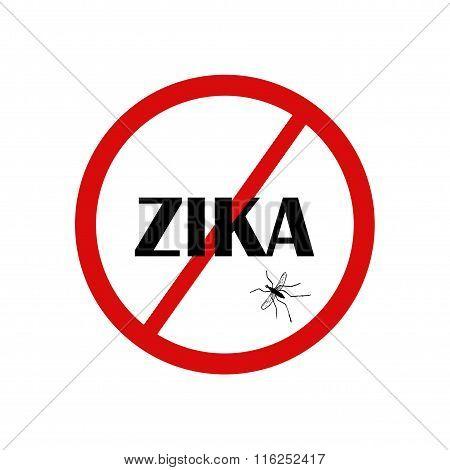 Zika Across A Stop Sign