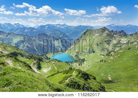 Lake Seealpsee in the Allgau Alps