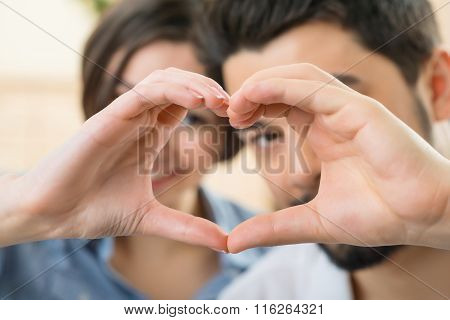 Nice couple expressing love