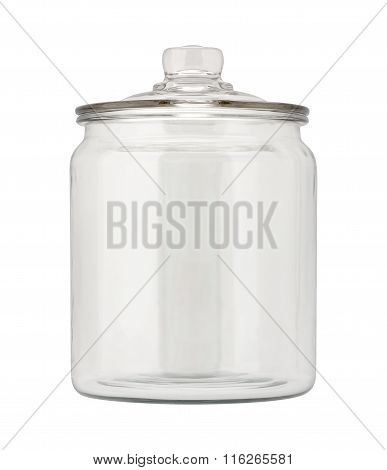 Empty Glass Apothecary Jar