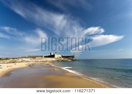 Carcavelos Beach And Saint Julian Fortress