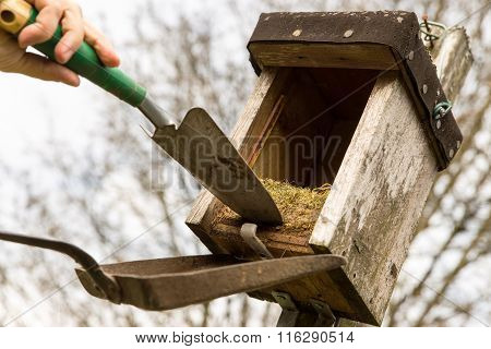 Birdhouse With Old Nest