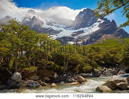 Torres del Paine national park.  Patagonia, Chile