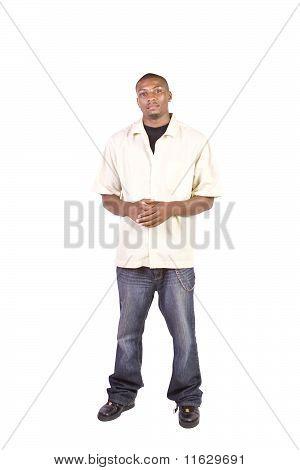 Casua Black Man Posing While Standing