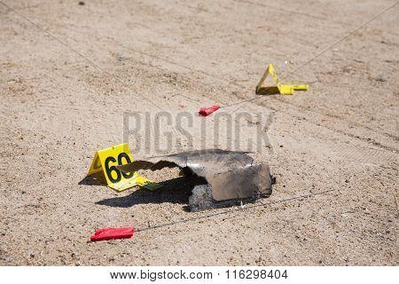 Evidence In Car  Explosion  Crime Scene