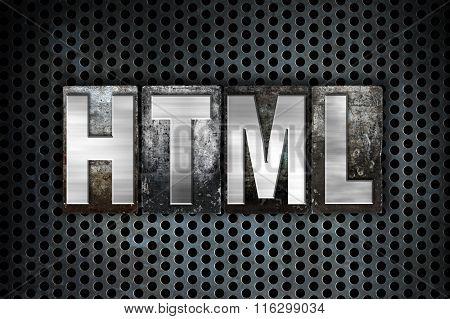 Html Concept Metal Letterpress Type