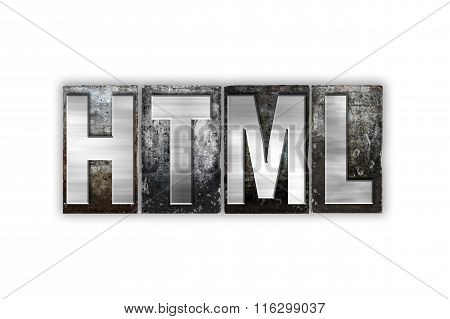 Html Concept Isolated Metal Letterpress Type