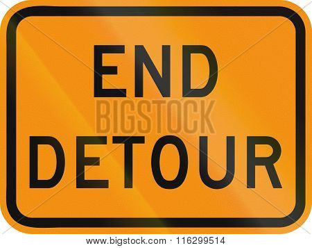 United States Mutcd Road Sign - End Detour
