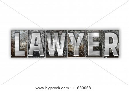 Lawyer Concept Isolated Metal Letterpress Type