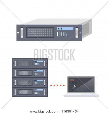Servers and Laptop