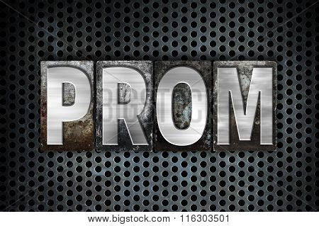 Prom Concept Metal Letterpress Type