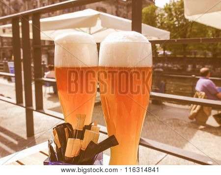German Weiss Beer Glass Vintage