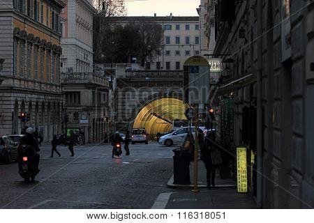 Traforo Umberto I ,tunnel In Rome