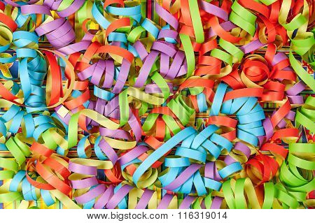 Paper Streamers as Background
