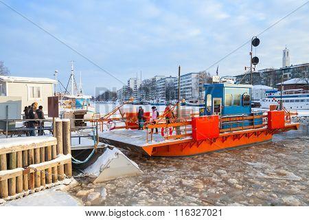 Ordinary Passengers And City Boat Fori, Light Traffic Ferry