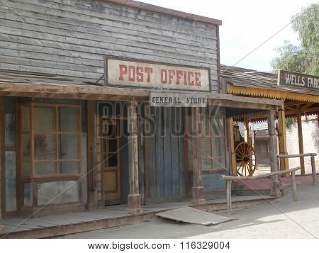 Wooden Post Office Building