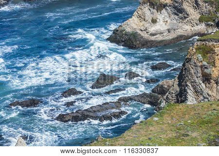Wild Pacific Coast At Point Arena
