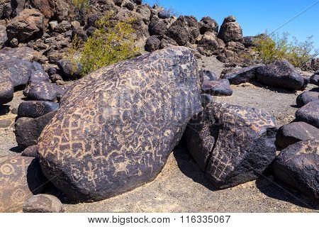 Petroglyph Site Near Gila Bend Arizona USA poster