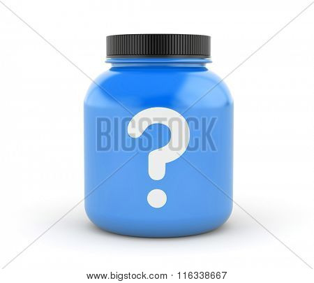 Can of protein or gainer powder with question