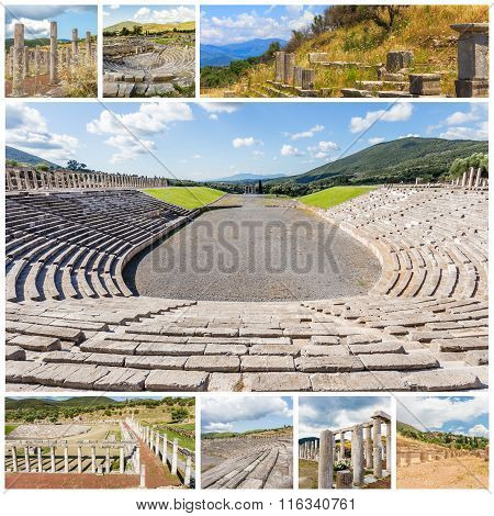 Collage of Ancient Messina,  Greece