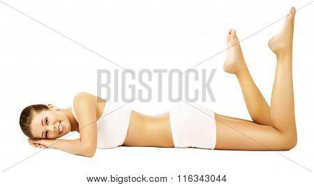 Woman Body Beauty Model White Underwear