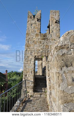 City Walls In Piran, Slovenia