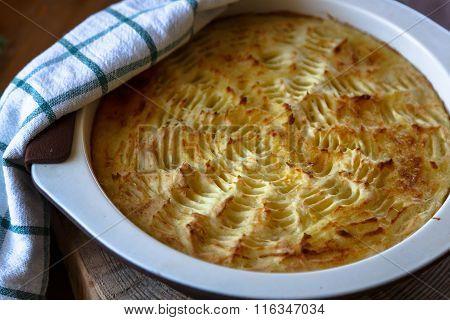 homade Shepherd's Pie in casserole dish