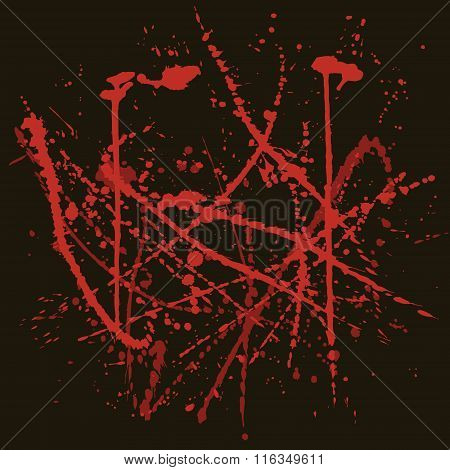 Vector background with red splashes.
