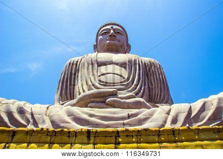 Giant Buddha In Bodhgaya, Bihar, India.
