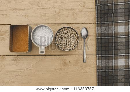Different Cereals On The Worktop
