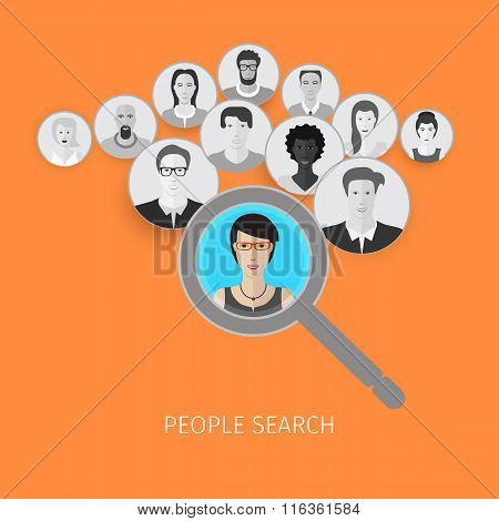 people search concept