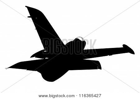 Silhouette Of Military Plane