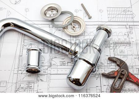 Chrome Siphon And Plan