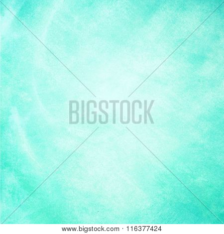 Turquoise Watercolor Painted On Paper Background Texture