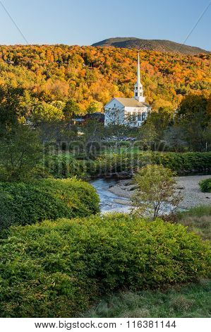 Vermont Fall Foliage And The Stowe Community Church