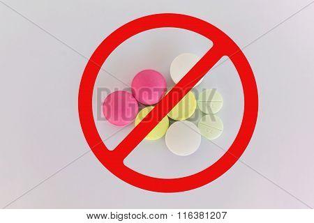 Isolated Expired Medicine On White Background