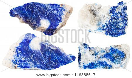 Various Dark Blue Lazurite Mineral Gem Stones