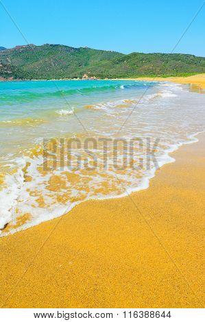 Porto Ferro Beach On A Clear Day
