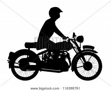 Motor Cyclist Silhouette