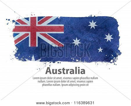 flag of Australia. vector illustration
