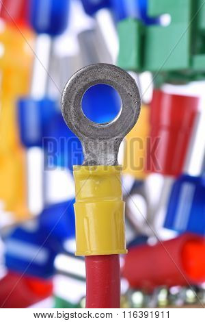 Closeup of Crimp Terminals electrical accessories