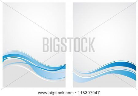 blue waves pattern abstract background